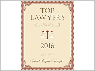 2016 Top Criminal Defense Lawyer Inland Empire Magazine
